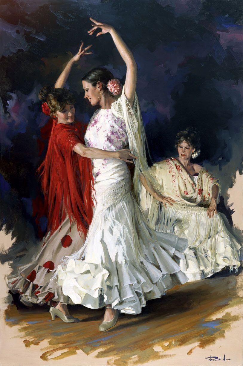 Ricardo-Sanz-Bailando-sevillanas----146X97cms