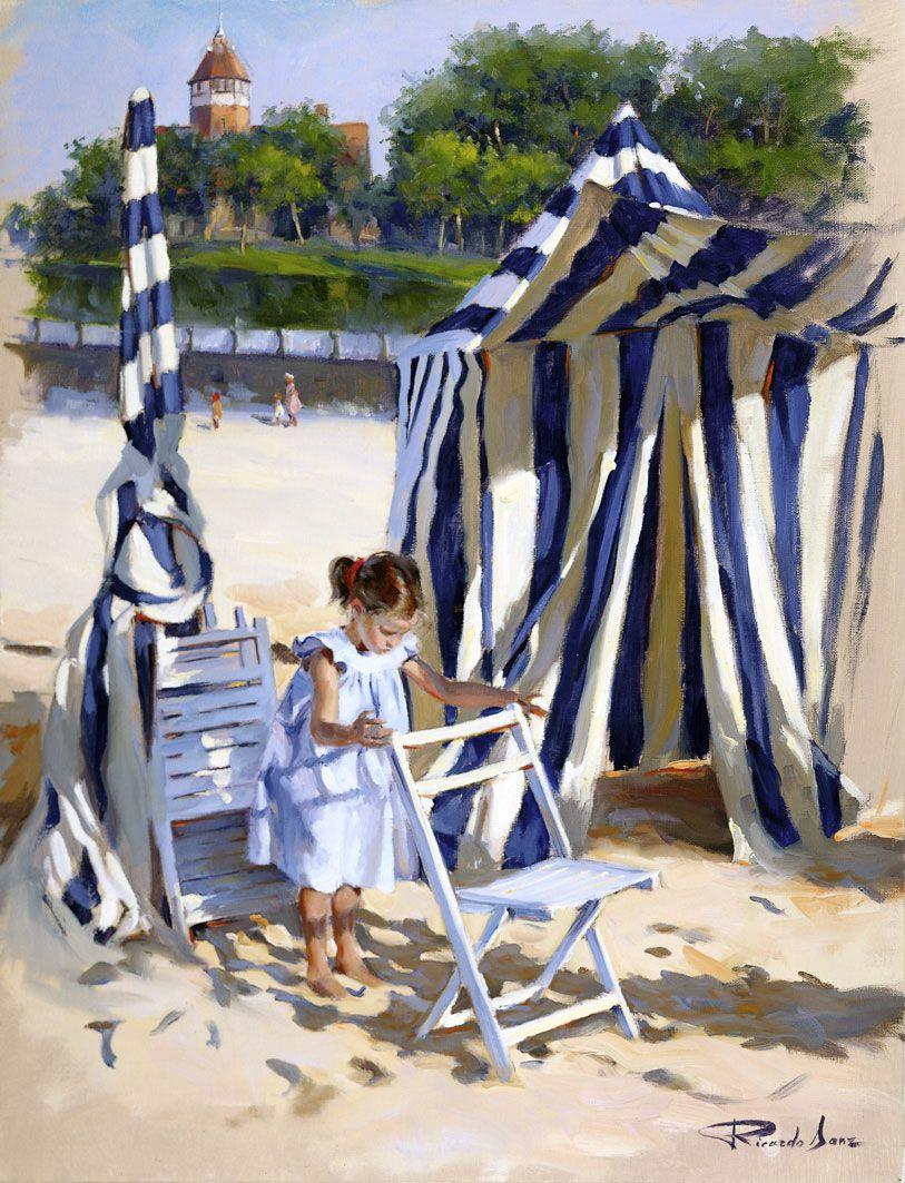Ricardo-Sanz-En-la-playa-de-Ondarreta-65X50-cms