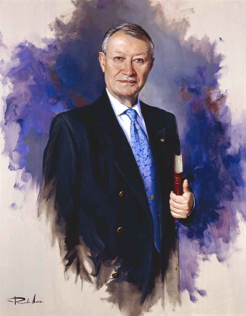 Ricardo-Sanz-Retrato-de-Julio-Sorjus-Past-Director-Rotary-International-100X81-cms