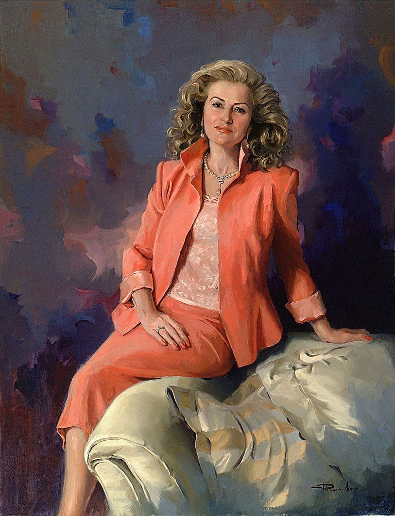 Ricardo-Sanz-Retrato-de-Maria-Eugenia-Lapeira-Gobernadora-de-Rotary-International-116x89-cms