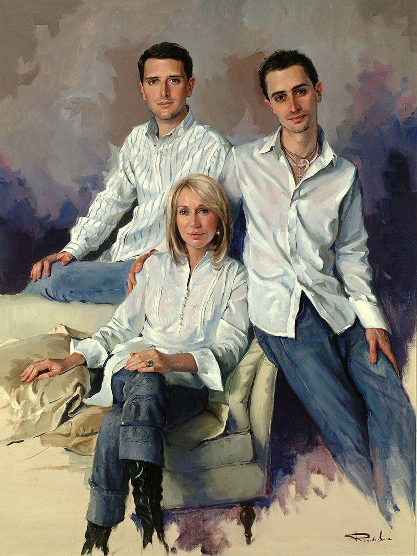 Ricardo-Sanz-Retrato-de-Maria-Rosa-Dorado-e-hijos-130X97-cms