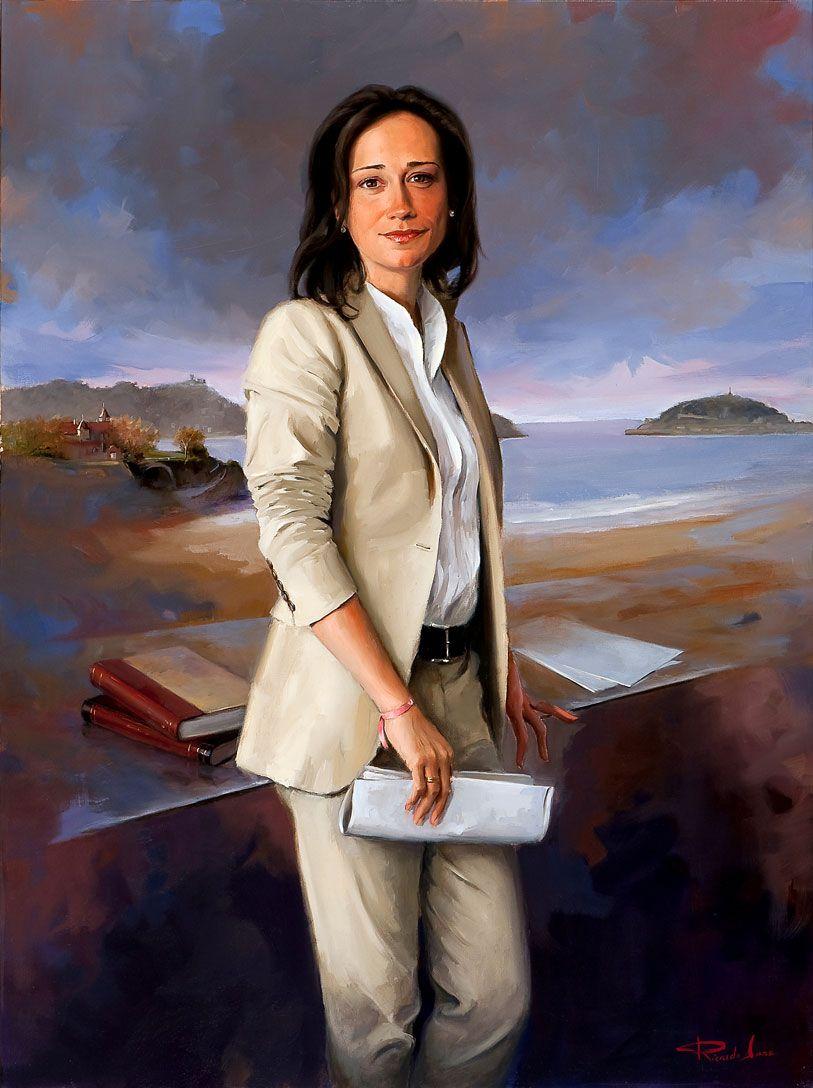 Ricardo-Sanz-Retrato-de-Rafaela-Romero-Presidenta-de-las-Juntas-Generales-de-Guipuzcoa-120X90-cms
