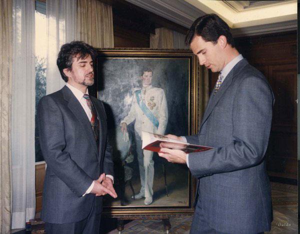 Ricardo Sanz con el príncipe Felipe