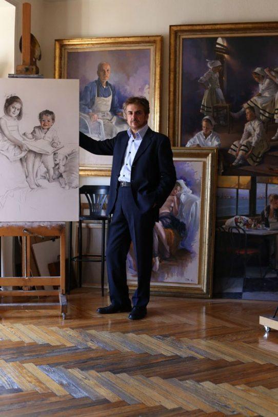 Ricardo Sanz en su estudio