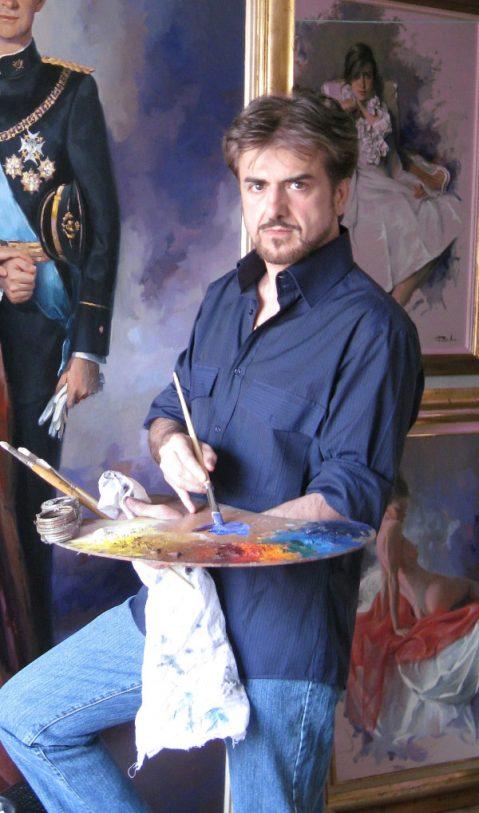Ricardo Sanz pintando